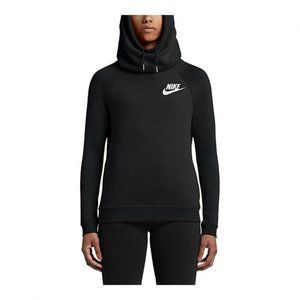 Nike Black White Rally Soft Fleece Hoodie M